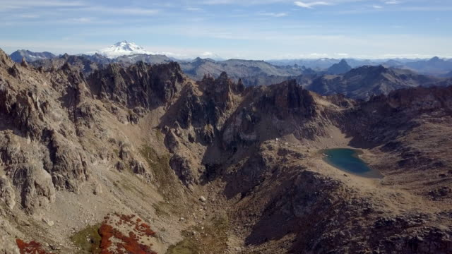 argentina cerro catedral in fall, cerro tronador in the background - extreme terrain stock videos & royalty-free footage