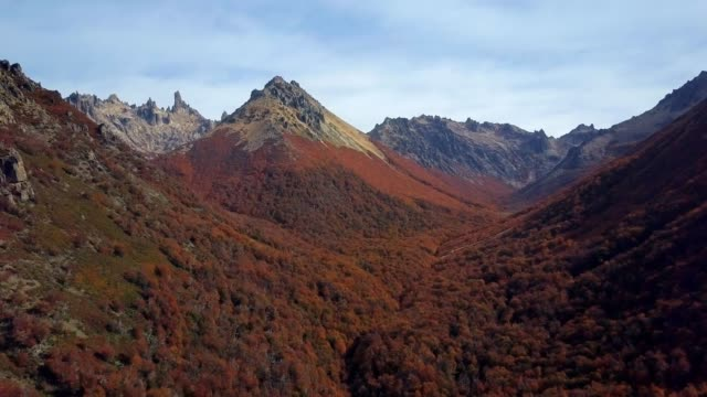 argentina cerro catedral in fall - argentina stock videos & royalty-free footage