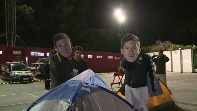 argentina fans arrive in sao paulo ahead of world cup clash against switzerland - international team soccer stock videos & royalty-free footage
