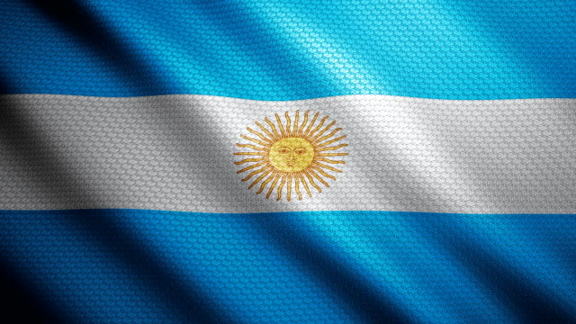 argentina flag 4k - argentinian culture stock videos & royalty-free footage