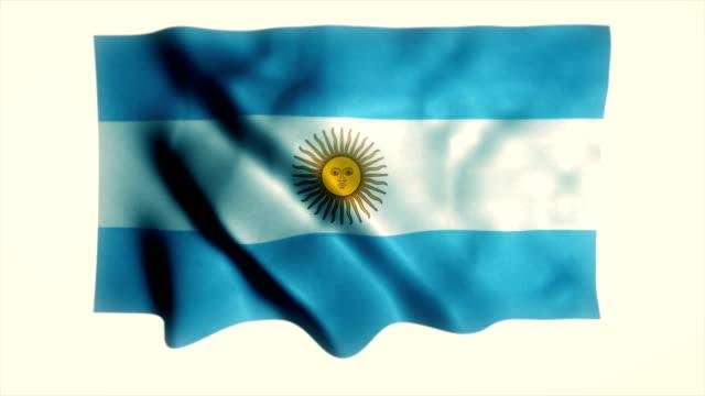 argentinien-flagge, argentinische flagge - argentinische flagge stock-videos und b-roll-filmmaterial