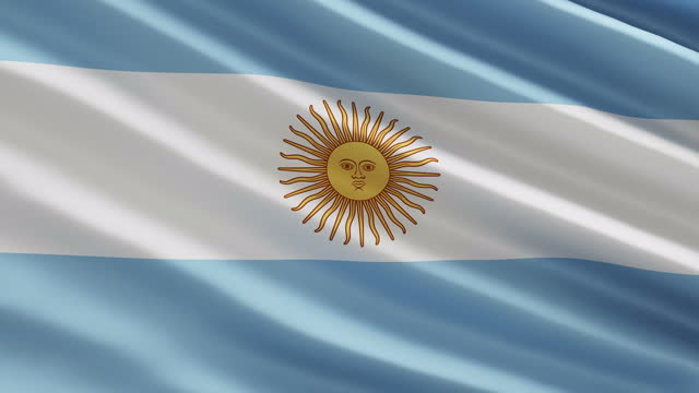 argentina flag in the wind concept - argentinian culture stock videos & royalty-free footage