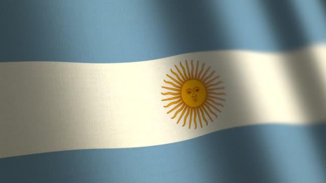 argentinien-flagge - schleife. 4k. - argentinische flagge stock-videos und b-roll-filmmaterial
