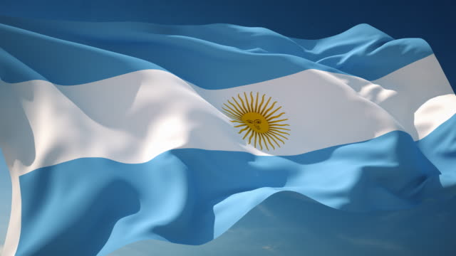 4k argentina flag - loopable - argentinian culture stock videos & royalty-free footage