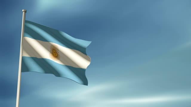 vídeos y material grabado en eventos de stock de bandera argentina - bandera argentina