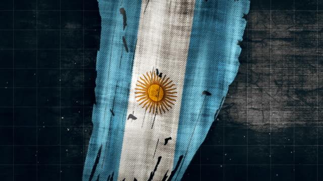 4k argentina grunge flag - bandiera dell'argentina video stock e b–roll