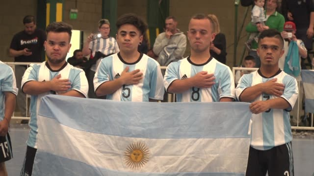 vídeos y material grabado en eventos de stock de argentina hosts the first football tournament for players with dwarfism with teams ranging from the united states and canada to bolivia and morocco... - enano