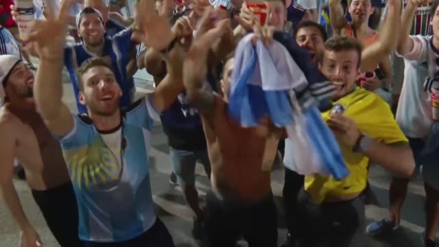 argentina jugo el viernes su mejor partido en la copa america-2019 y vencio 2-0 a venezuela en el maracana de rio de janeiro - argentina stock videos & royalty-free footage