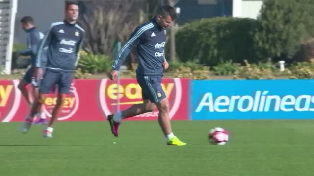 Argentina national football team trained on Tuesday ahead of the upcoming Copa America Centenario to be held in US on June