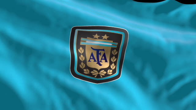 argentina national soccer team flag waving. computer generated animation for editorial use. seamlessly looped and close up. - loopable moving image stock videos & royalty-free footage