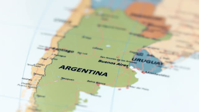 south america argentina on world map - argentina stock videos & royalty-free footage