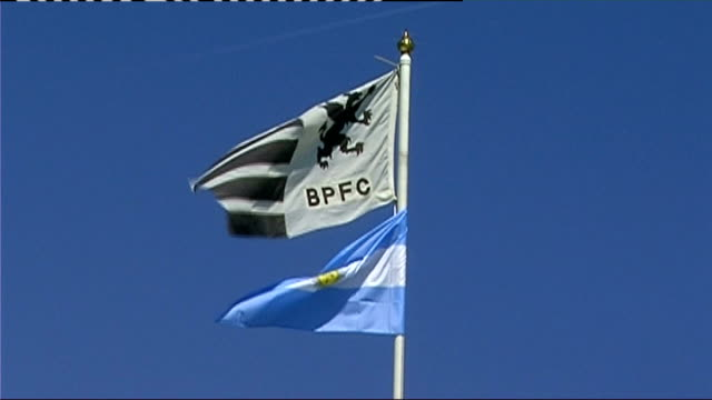 Argentina Pumas train before test match v England Argentine flag flying from flagpole
