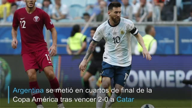 argentina se metio en los cuartos de final de la copa america2019 con un triunfo por 20 ante catar el domingo en porto alegre en la ultima fecha del... - alegre stock videos & royalty-free footage
