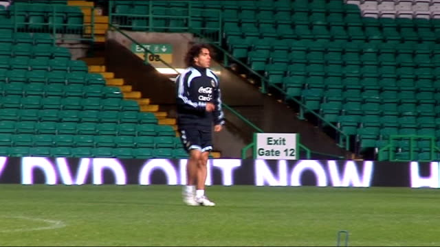 Argentina team training at Celtic Park SCOTLAND Glasgow Celtic Park Various general views Argentina international squad training including focus...