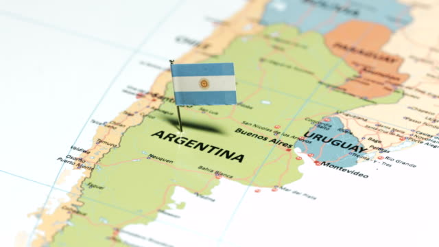 argentina with national flag - argentina stock videos & royalty-free footage
