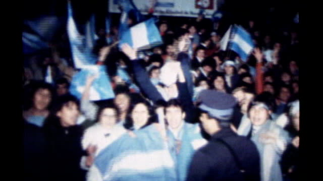 argentina world cup 1978 matchfixing allegations 2661978 / s12120604 argentina fans celebrating in street after world cup final victory police... - 1978 stock videos & royalty-free footage