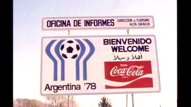Argentina World Cup 1978 matchfixing allegations 361978 / S12120604 EXT 'Argentina World Cup 1978' welcome sign General view of emtpy football...