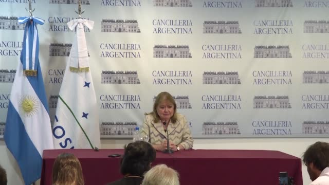 argentina's foreign minister susana malcorra believes that mexico has looked north towards the united states too much and has neglected its ties to... - mercosur stock videos & royalty-free footage