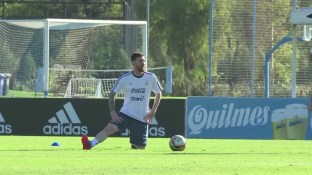 argentina's hopes of reaching next year's world cup were given a huge boost on friday after fifa overturned lionel messi's four game ban for swearing... - lionel messi stock videos and b-roll footage