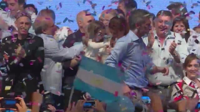 argentinas president elect mauricio macri celebrated his victory by showing off his unique dance moves - mauricio macri stock videos and b-roll footage