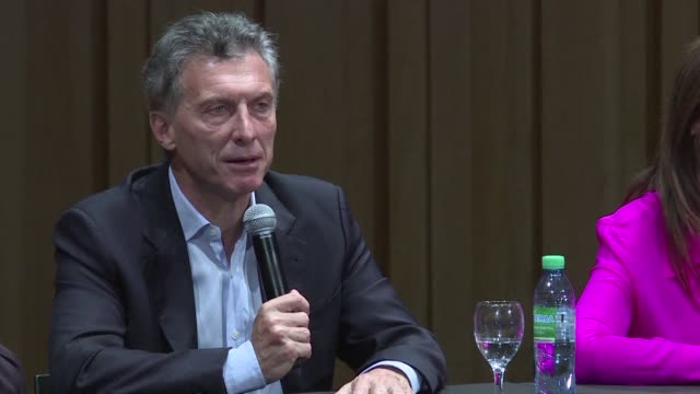 argentinas president elect mauricio macri says he will call for venezuela to be suspended from the south american trade bloc mercosur over its... - mauricio macri stock videos and b-roll footage