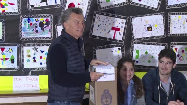 argentina's president mauricio macri faces an important test of strength in mid term legislative elections as he seeks to refresh a mandate for... - mauricio macri stock videos and b-roll footage