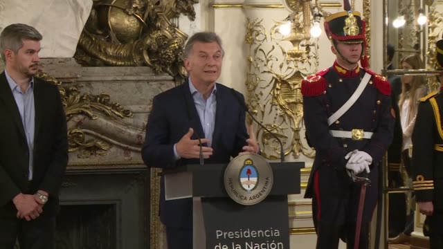 argentina's president mauricio macri pledged monday to press ahead with an austerity drive in latin america's third largest economy following a... - mauricio macri stock videos and b-roll footage