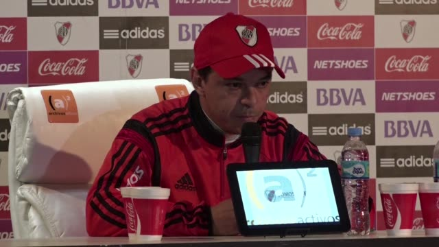 stockvideo's en b-roll-footage met argentina's river plate coach, marcelo gallardo said monday he is confident of claiming their third libertadores crown, to set alongside their... - assertiviteit