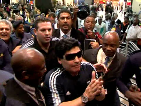 Argentine coach Diego Maradona arrived in South Africa on Monday just days after the end of his twomonth suspension from all football activities for...