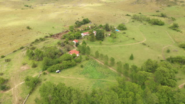 argentine estancia and surrounding property - ranch house stock videos & royalty-free footage