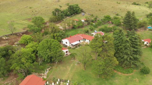 argentine estancia ranch in sierra chica hills - ranch house stock videos & royalty-free footage