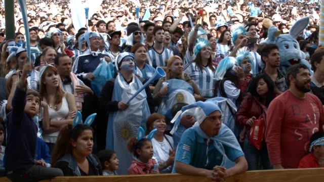 argentine fans reacting to the german world cup soccer match being played in rio de janeiro brazil on june 13th 2014 - national team stock videos & royalty-free footage