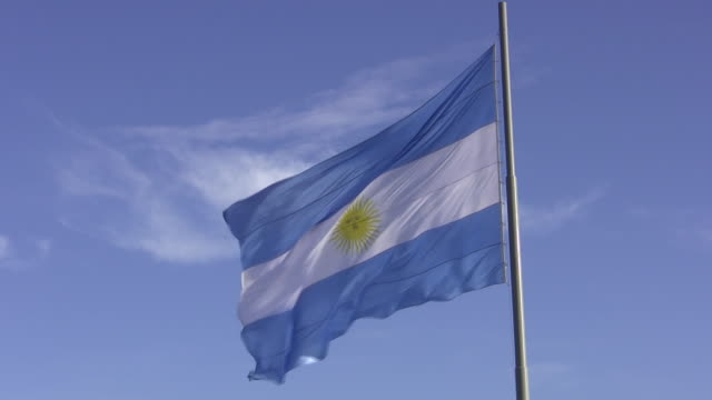 argentine flag - argentina stock videos and b-roll footage