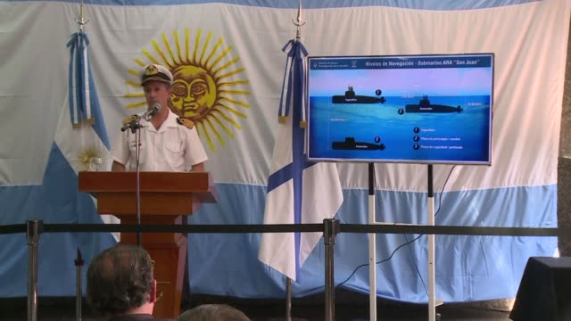 Argentine navy spokesman Enrique Balbi said on Friday that searching for the missing submarine and its 44 crew members was like trying to find a six...