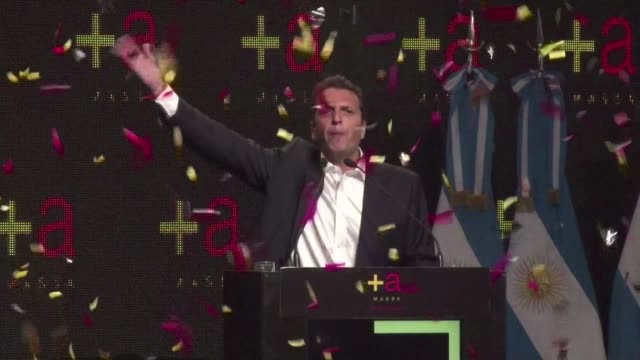 argentine opposition leader sergio massa won the mid-term legislative election on sunday in the key province of buenos aires, according to local tv... - buenos aires province stock videos & royalty-free footage