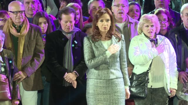 argentine president cristina kirchner gives her last independence day address listing her governments successes ahead of elections to choose her... - nachfolger stock-videos und b-roll-filmmaterial