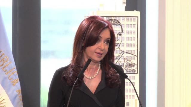 argentine president cristina kirchner on wednesday thanked her latin american peers for their support in her first public appearance since she was... - thyroid gland stock videos & royalty-free footage