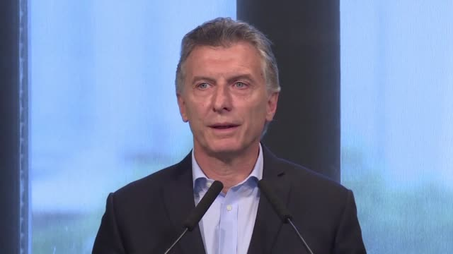 argentine president mauricio macri said during a press conference that he wants to improve the argentine us relationship with the president elect... - mauricio macri stock videos and b-roll footage