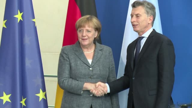 argentine president mauricio macri said tuesday in berlin that mercosur members are willing to advance on the negotiations with the eu and called... - mercosur stock videos & royalty-free footage