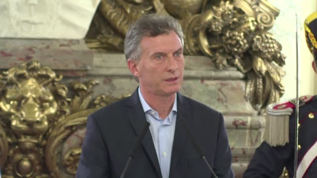 argentine president mauricio macri says that he has nothing to hide after the so called panama papers revealed his offshore financial interests - mauricio macri stock videos and b-roll footage