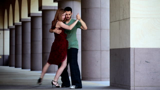 argentine tango dancing - tangoing stock videos & royalty-free footage