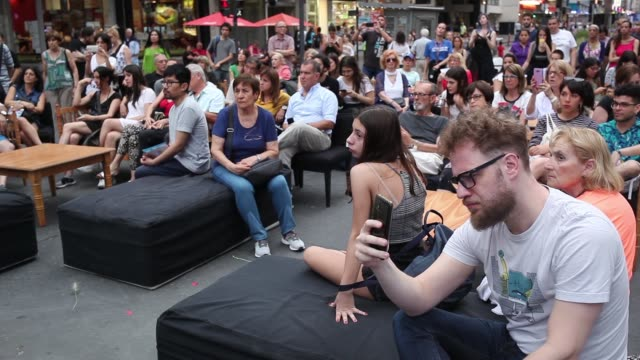 argentine writers and novelists talk with the audience at the night of the bookstores on november 17 2019 in buenos aires argentina buenos aires is... - avenida stock videos & royalty-free footage