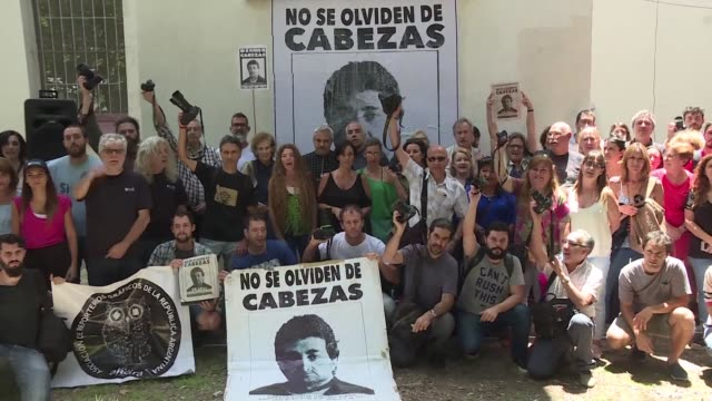 argentines mark the 20th anniversary of the brutal killing of photojournalist jose luis cabezas whose murder sparked a national movement against... - photojournalist stock videos & royalty-free footage