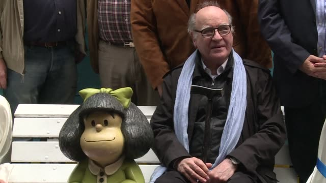 argentinian cartoonist quino creator of the iconic mafalda comics celebrates the 50th anniversary of the publication of the first volume - publication stock videos & royalty-free footage