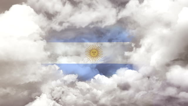 argentinian flag - 4k resolution - argentinian flag stock videos & royalty-free footage