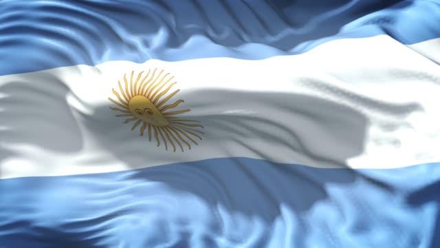 vídeos y material grabado en eventos de stock de bandera argentina está ondeando lentamente en resolución 4k de pantalla completa - bandera argentina