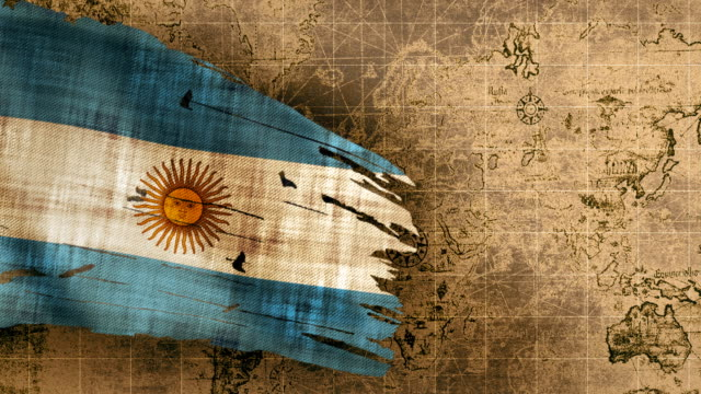 4k argentinian flag loopable - argentinian flag stock videos & royalty-free footage