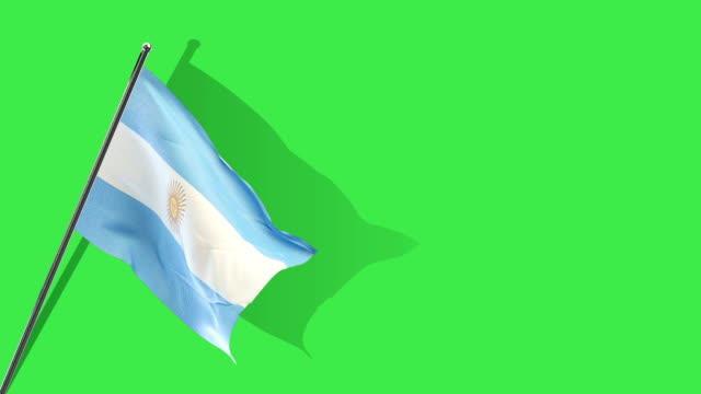 argentinian flag rising - argentinian flag stock videos & royalty-free footage