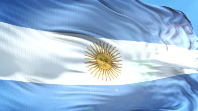 argentinische flagge-slow motion-4k auflösung - argentinische flagge stock-videos und b-roll-filmmaterial