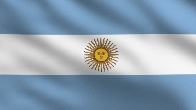 argentinian flag - argentinian flag stock videos & royalty-free footage